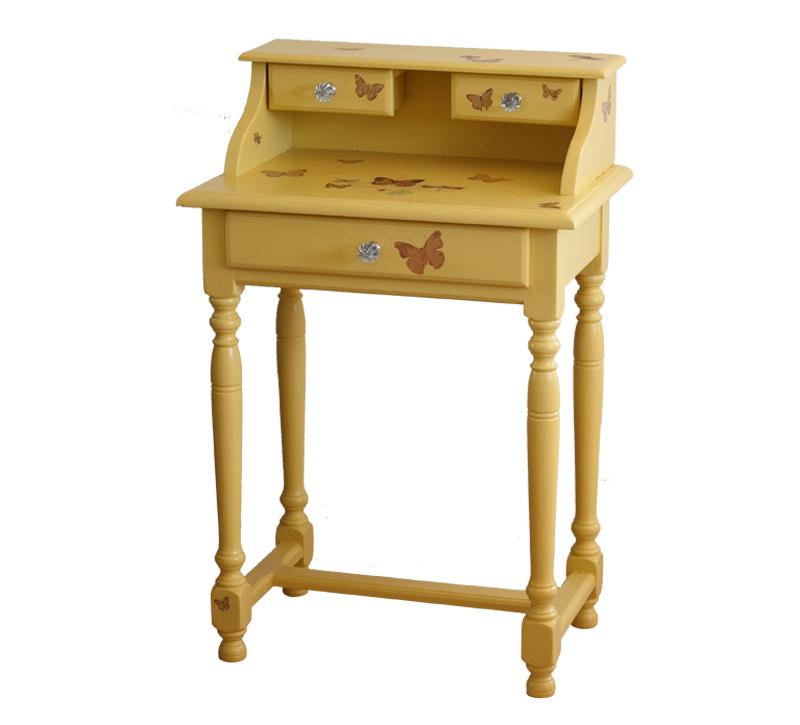 -secrétaire relooké-relooking meuble-sac de billes-transfert sur meuble-