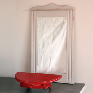 -miroir mural-meuble console-effet shabby-