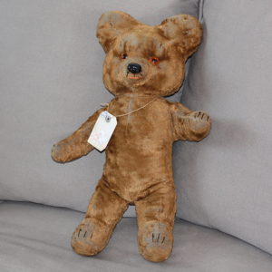 Ours peluche ancien années 1960 – Old blue Teddy Bear sixties