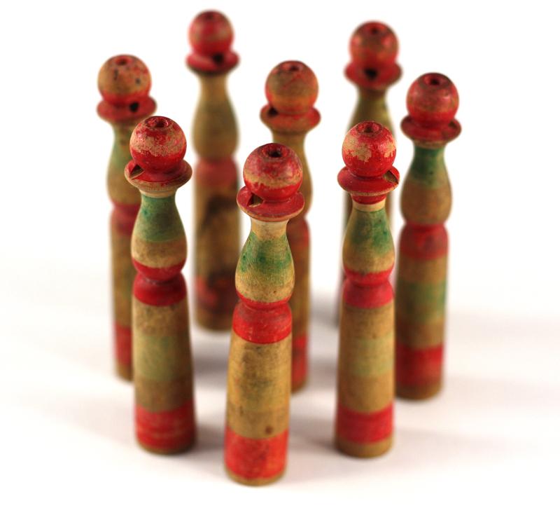 -quilles anciennes-jouet ancien-sac de billes-