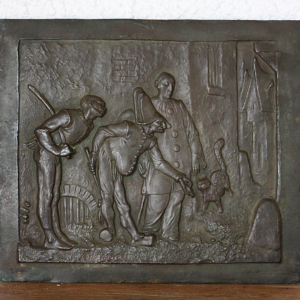 Bronze bas-relief Commedia Dell Arte
