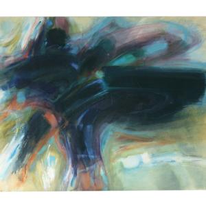 J. Boullé huile sur toile abstraite