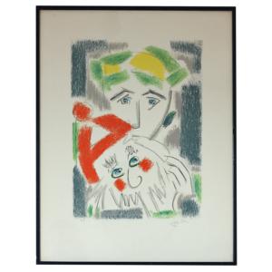 Jacques Potin épreuve d'artiste lithographique