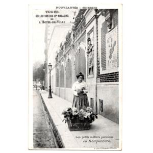 Carte postale La Bouquetière